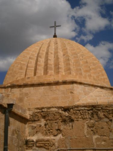 Cúpula del Monasterio Siriano Ortodoxo de Deir Zafaran. Foto propia
